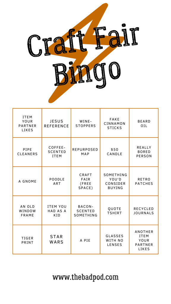 Craft Fair Bingo for Bored Spouses